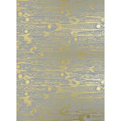 S2036-001 From Porto With Love - Sardinha - Neutral Metallic Fabric