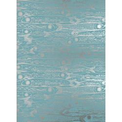 S2036-002 From Porto With Love - Sardinha - Blue Metallic Fabric
