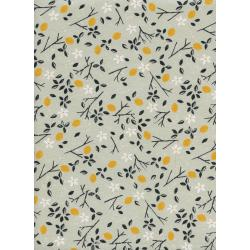 S2037-002 From Porto With Love - Lemon Trees - Mint Unbleached Cotton Fabric