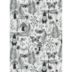 S2070-002 Front Yard - Garden - Black Fabric