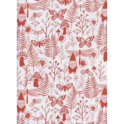S2070-003 Front Yard - Garden - Red Fabric