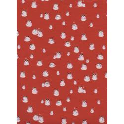 S2072-003 Front Yard - Frogs - Red Fabric