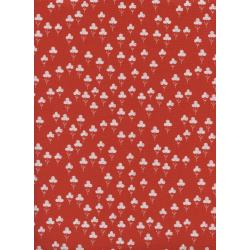 S2073-003 Front Yard - Clovers - Red Fabric