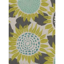 S2074-012 Front Yard - Sunflowers - Yellow Canvas Fabric