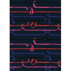 S2024-015 Honeymoon - Zipline - Blue Rayon Fabric