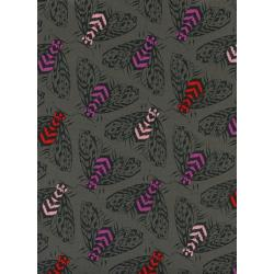 S2055-002 Magic Forest - Bees - Charcoal Fabric
