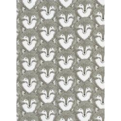 S2057-001 Magic Forest - Foxes - Grey Fabric