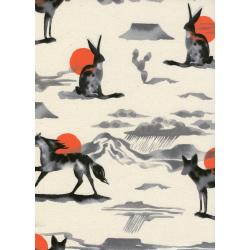 S2061-001 Santa Fe - Mirage - Red Unbleached Cotton Fabric