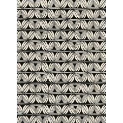 S2064-001 Santa Fe - Pottery - Night Unbleached Cotton Fabric