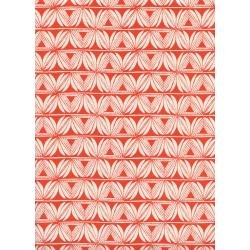 S2064-002 Santa Fe - Pottery - Red Unbleached Cotton Fabric
