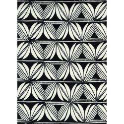 S2068-015 Santa Fe - Pottery - Black Rayon Fabric