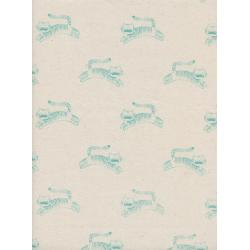 S2045-002 Sleep Tight - Big Roar - Neutral Unbleached Cotton Fabric