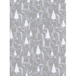 S2047-002 Sleep Tight - Bunny Hill - Neutral Metallic Fabric