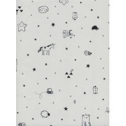 S2050-002 Sleep Tight - Tinies - Grey Fabric
