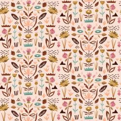 ST104-BL1 In Bloom - Floral Garden - Blush Fabric