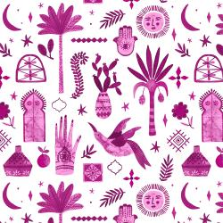 TG100-SP1 Marbella - Moroccan Nights - Summer Plum Fabric