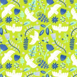 TG101-LI4 Marbella - Free as a Bird - Limelight Fabric
