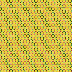 TB104-YE4 From the Desk of... - Hexagons - Yellow Fabric