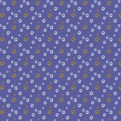 VB104-CL3M Mountains, Rocks, and Pebbles - River Pebbles - California Lilac Metallic Fabric