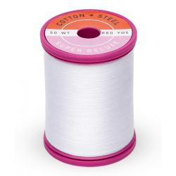 753-1001 Bright White 50 Wt. Cotton Thread Spool