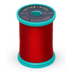 753-1039 True Red 50 Wt. Cotton Thread Spool