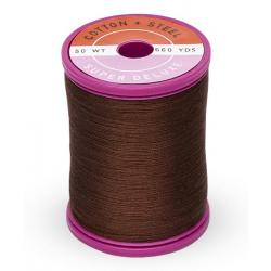 753-1130 Dark Brown 50 Wt. Cotton Thread Spool