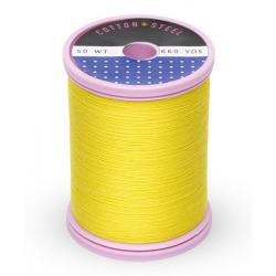 753-1187 Mimosa Yellow 50 Wt. Cotton Thread Spool