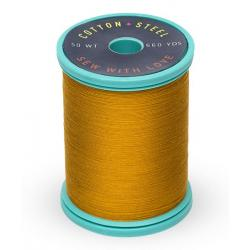753-1826 Galley Gold 50 Wt. Cotton Thread Spool
