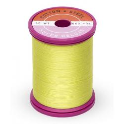 753-1901 Neon Yellow 50 Wt. Cotton Thread Spool