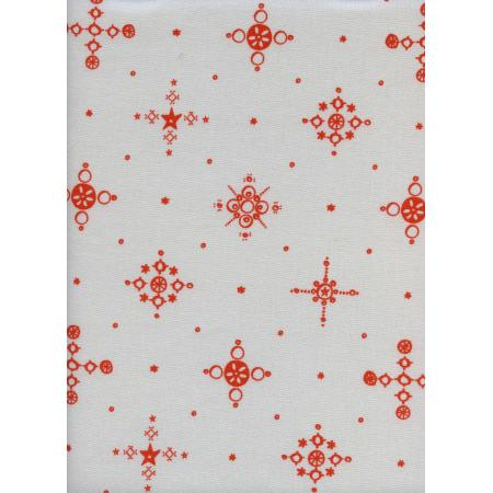 A4028-002 Clover - Cafe Cup - Persimmon Fabric