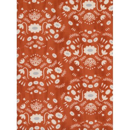 A4043-003 Flower Shop - Folk Dress - Earth Unbleached Cotton Fabric