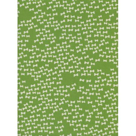 A4045-004 Flower Shop - Bow Ties - Grass Unbleached Cotton Fabric