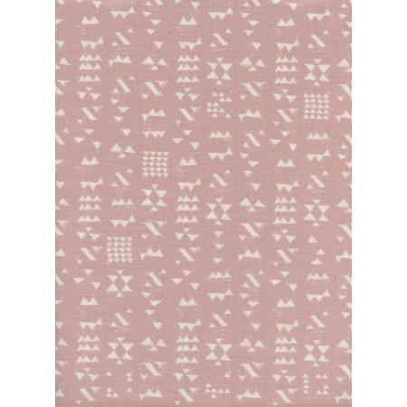 A4068-002 Moonrise - Patch - Rose Unbleached Cotton Fabric