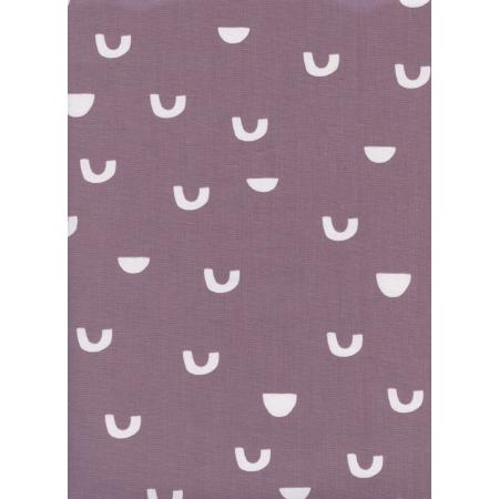 A4070-002 Moonrise - Cups - Lavender Unbleached Cotton White Pigment Fabric