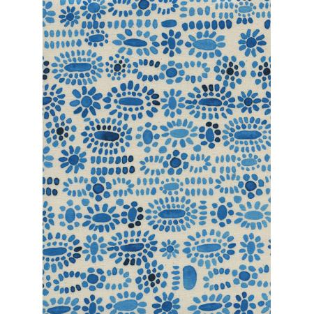 A4052-001 Sienna - Cabachon - Lapis Unbleached Cotton Fabric