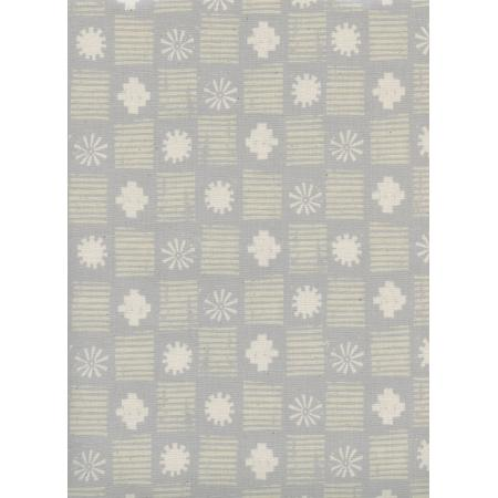 A4054-002 Sienna - Stamps - Stone Unbleached Cotton Fabric