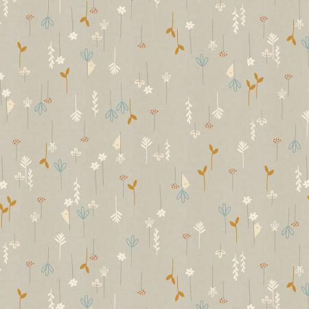 AE102-PE3U Dear Friends - Hide and Seek - Pebble Unbleached Fabric 1