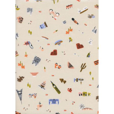 AB8043-001 Amalfi - Explorer - Natural Unbleached Cotton Fabric