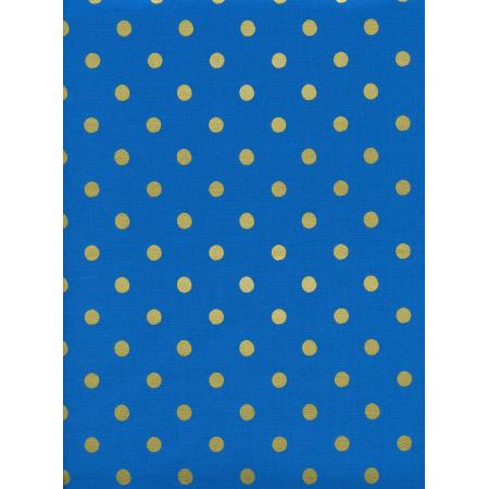 AB8023-002 Wonderland - Caterpillar Dots - Cobalt Metallic Fabric
