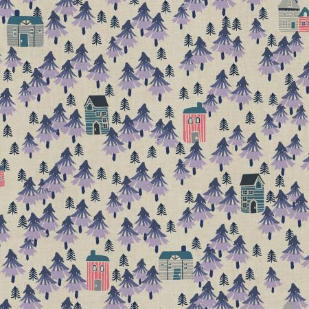 CC203-PH3U Chill Out - Nature Walk - Purple Haze Unbleached Fabric