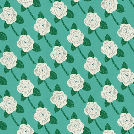 CF101-TE1U Kibori - Chico - Teal Unbleached Fabric