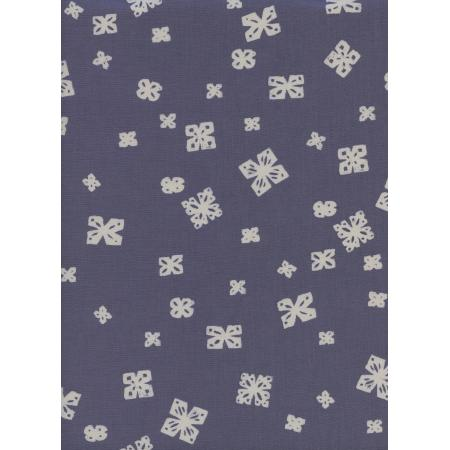 C5044-001 Bluebird - Paper Cuts - Dusk Unbleached Cotton Fabric
