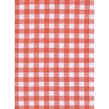 "C5091-007 Checkers - 1/2"" Gingham - Coral Fabric"