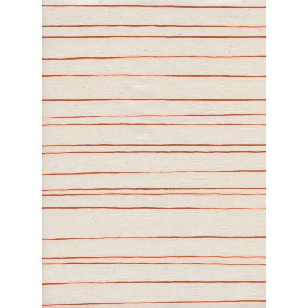 C5149-001 Cozy - Pencil Stripe - Natural Unbleached Cotton Fabric