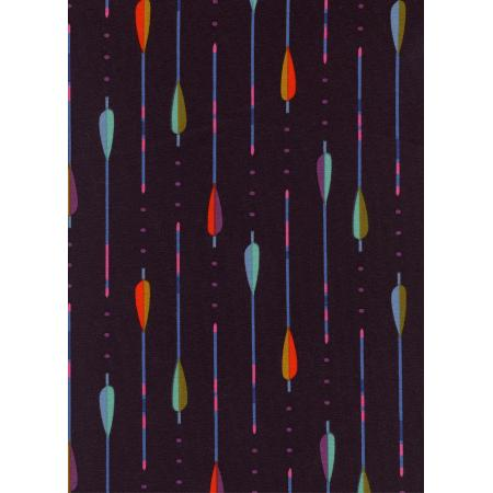 C5156-027 Dress Shop - Arrows - Wine Knit Fabric