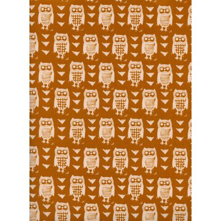 C5181-001 Firelight - Hooties - Earth Unbleached Cotton White Pigment Fabric