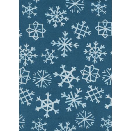 C5072-044 Garland - Snowflakes - Blue Flannel Fabric