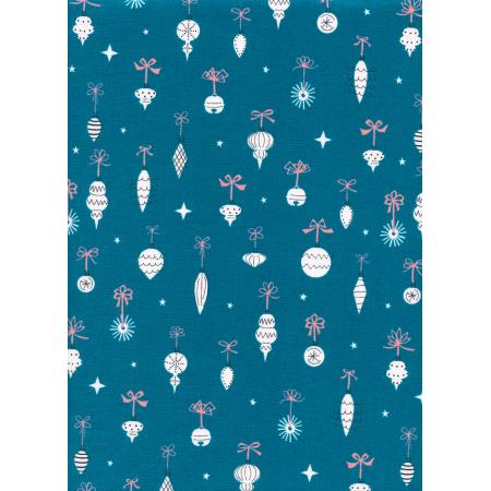 C5073-002 Garland - Ornamentals - Teal Fabric