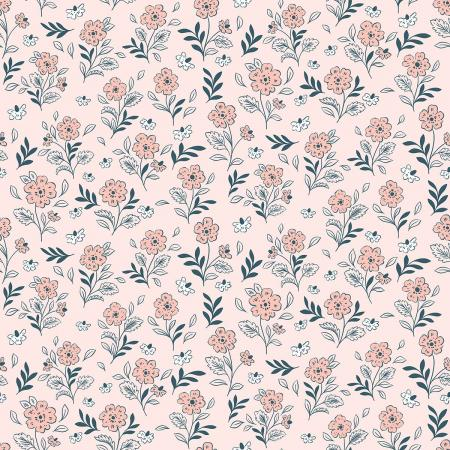 EM104-FP2 Earth Magic - Floral Cluster - Fairy Pink Fabric 1