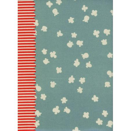 K3030-002 Penny Arcade - Popcorn - Light Blue Unbleached Cotton Fabric